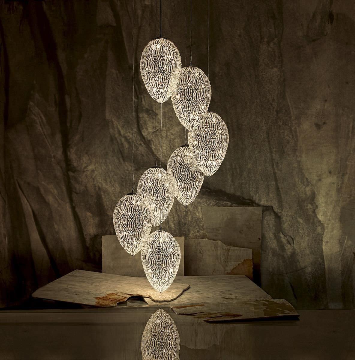 lampadario design originale / in cristallo / in acciaio ... - Larabesque Lampade