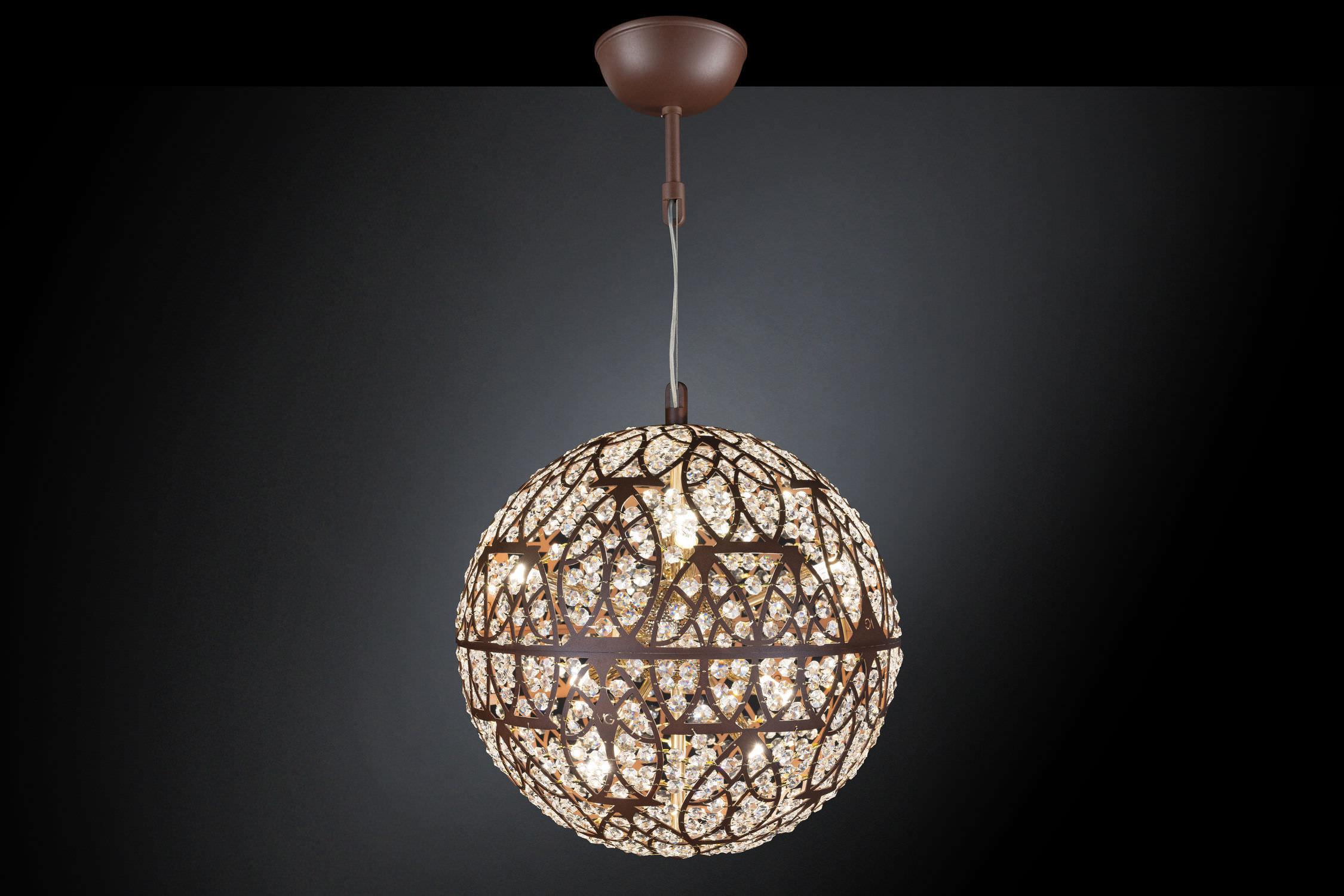 lampada a sospensione / moderna / in cristallo / in acciaio ... - Larabesque Lampade