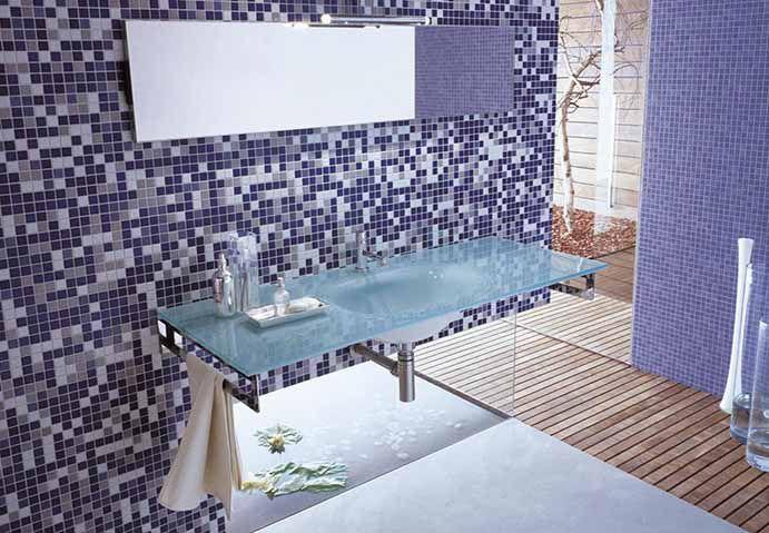 Bagno Con Mosaico Rosa : Mosaico da interno da bagno da pavimento in ceramica appiani