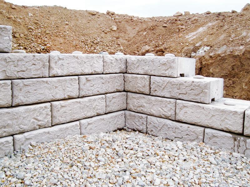 Blocchi Calcestruzzo Per Muri.Blocco Di Calcestruzzo Pieno Per Muro Di Contenimento Antiche
