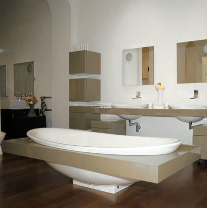 vasca da bagno da appoggio ovale in pietraluce io io84 by alexander