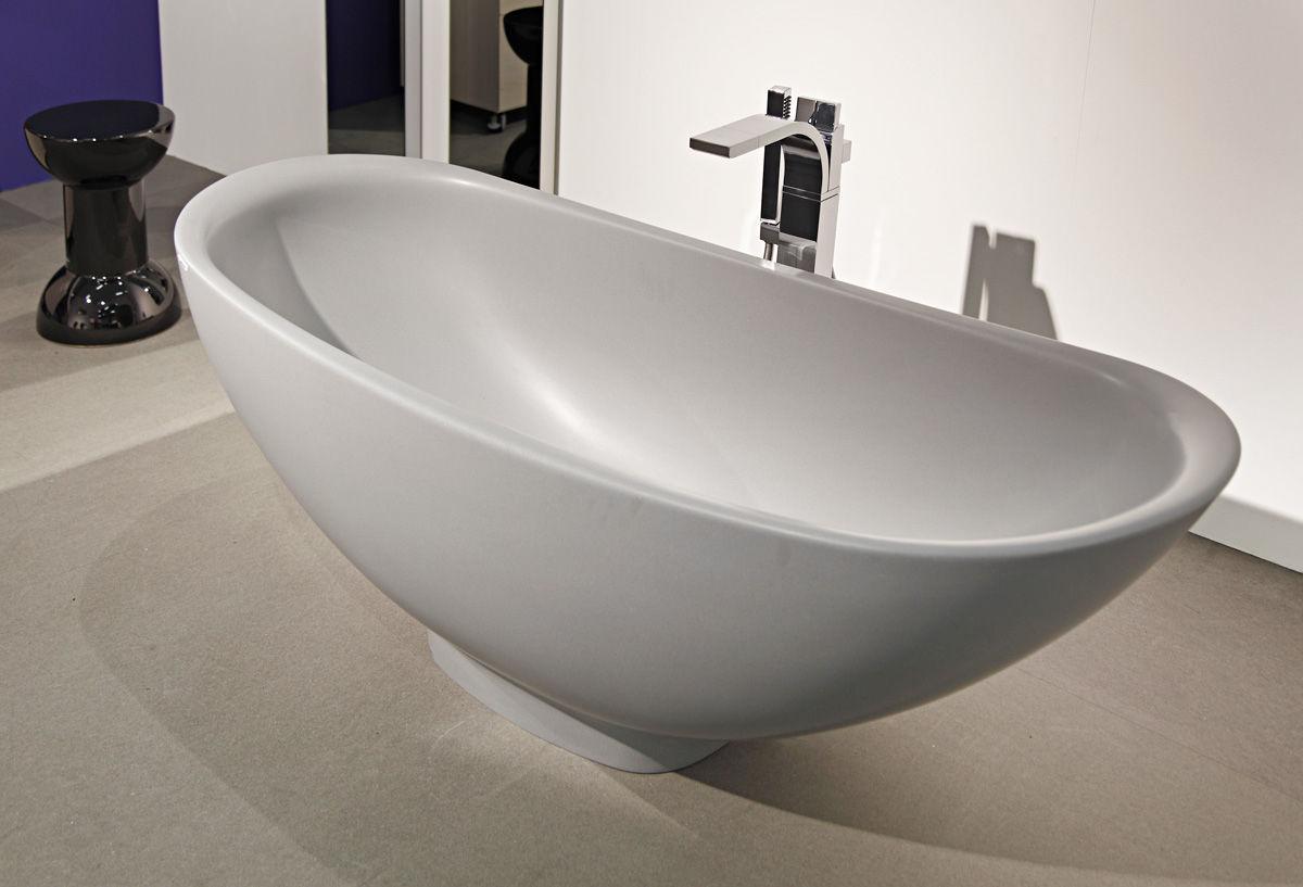 Vasca Da Bagno Angolare 80x80 : Vasca da bagno da appoggio ovale in pietraluce® io: io70sm by