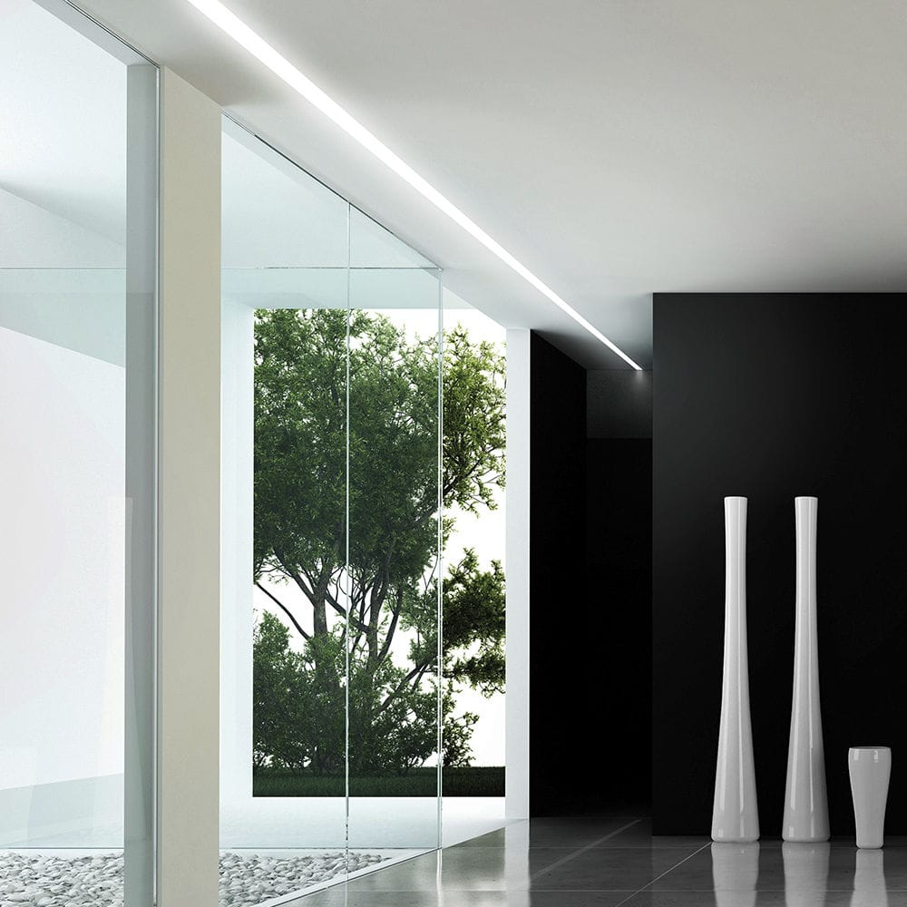 Profilo luminoso a soffitto / da incasso / LED / dimmerabile ...