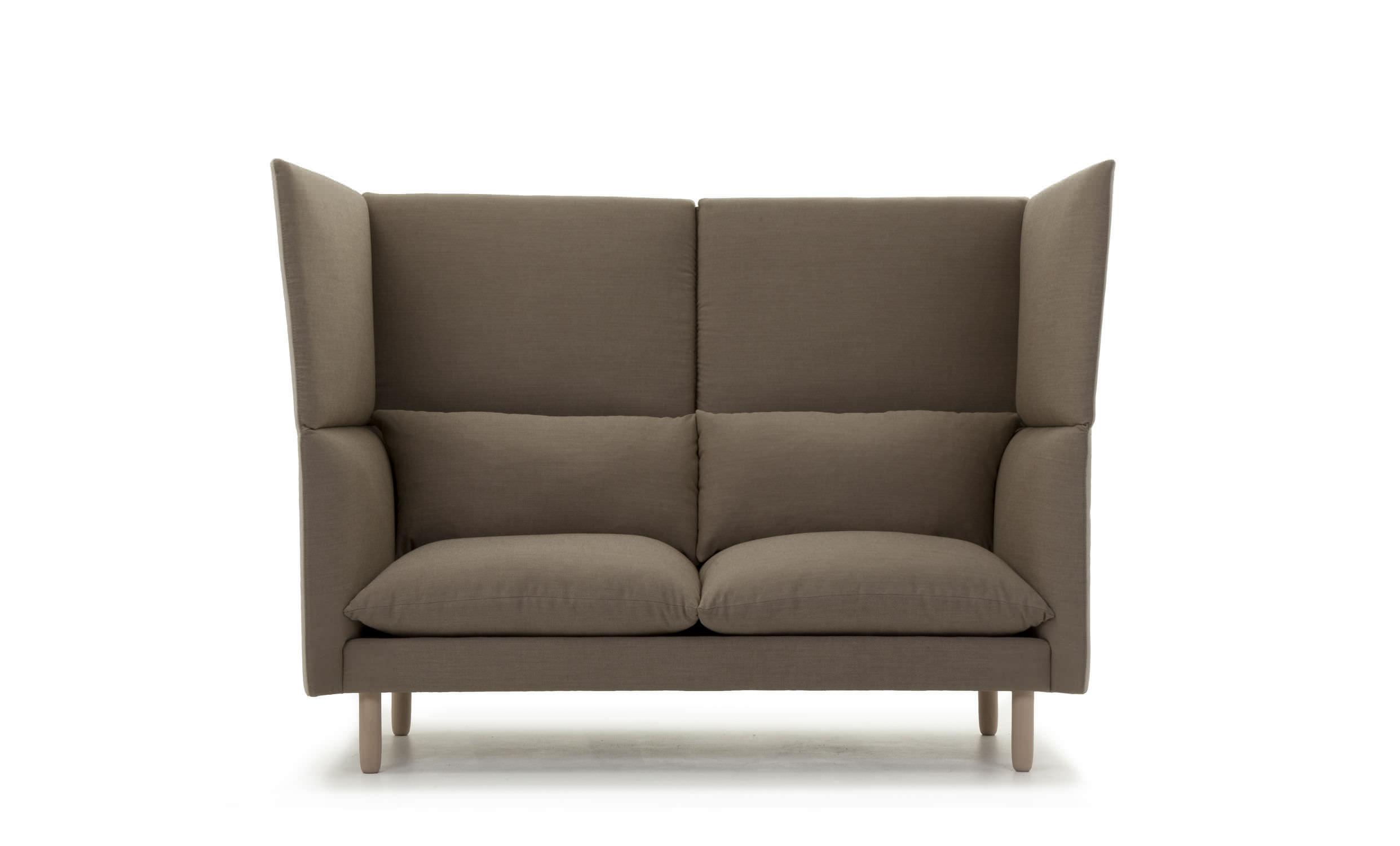 Divano moderno / in tessuto / 2 posti / con schienale alto - DUO by ...