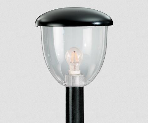 Lampioncino da giardino moderno in policarbonato a lampada