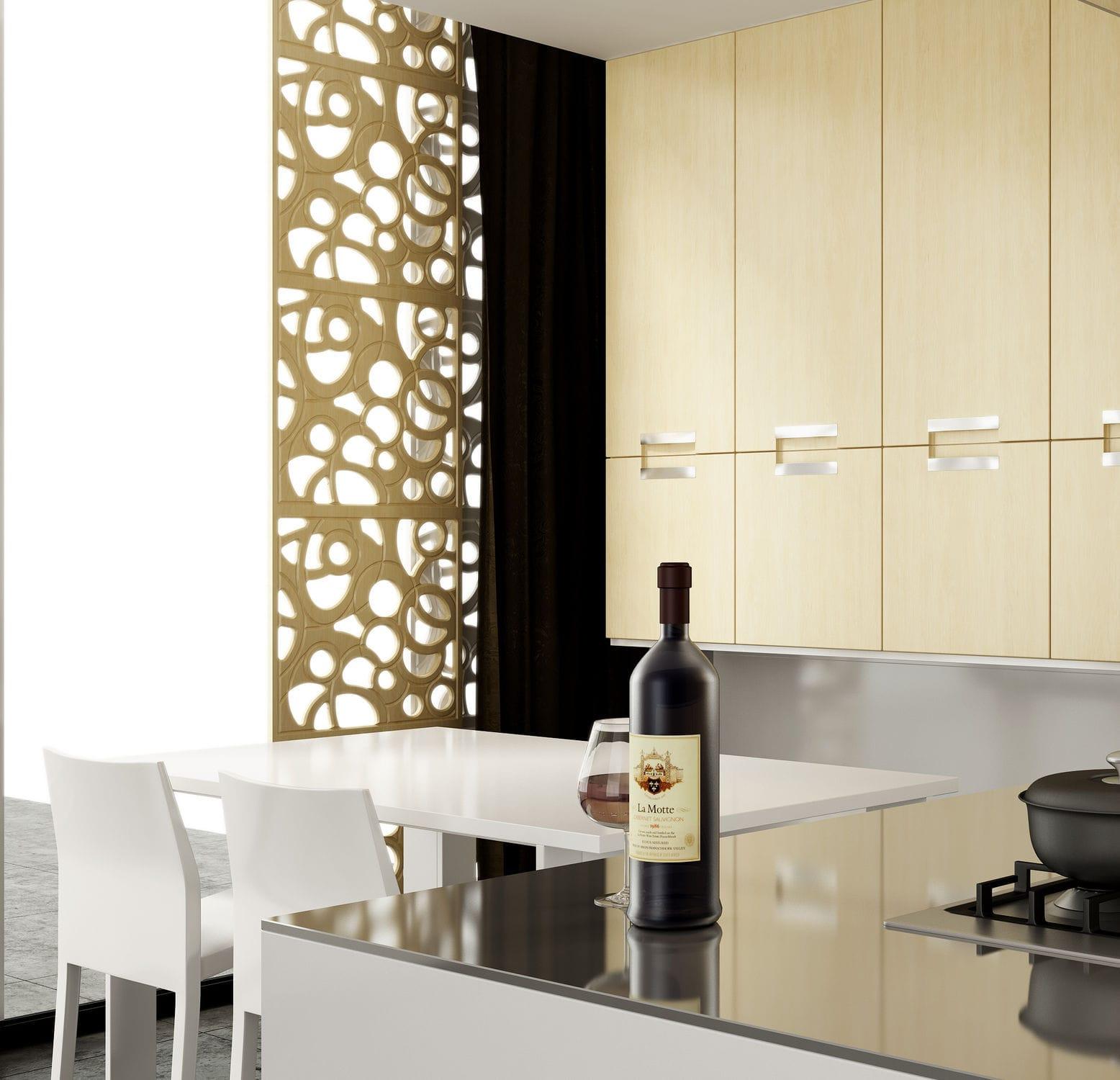 Pannello decorativo per arredamento di interni / mdf / in laminato ...