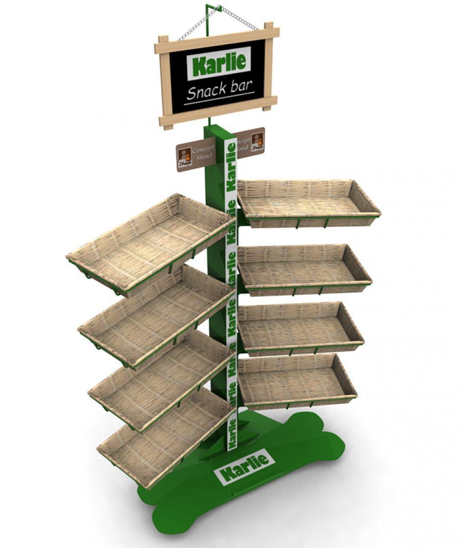 Top Espositore per prodotti alimentari / in legno / per negozio  WL74
