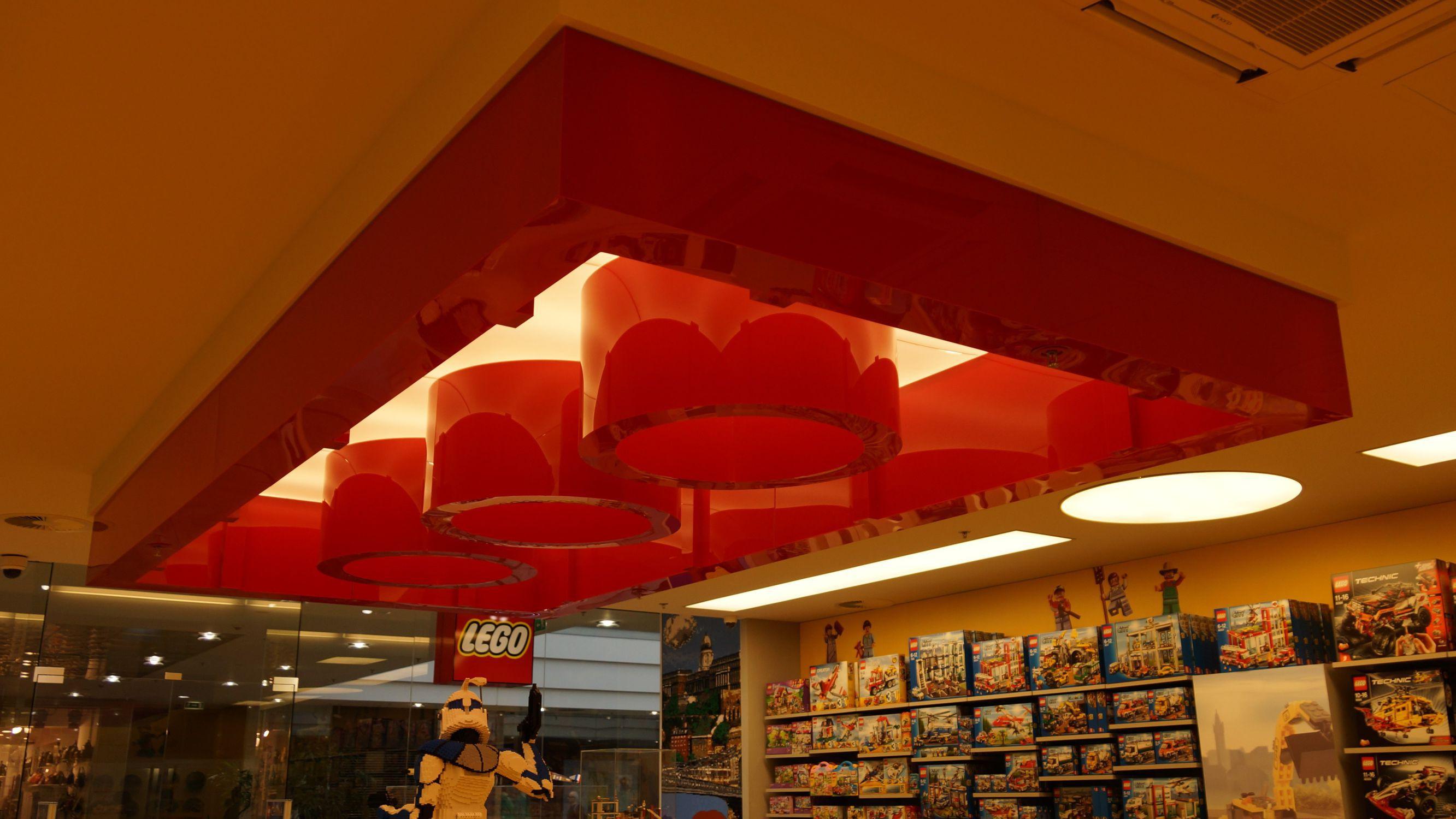 Plafoniera moderna / idrorepellente / LED / da interno - LEGO ...