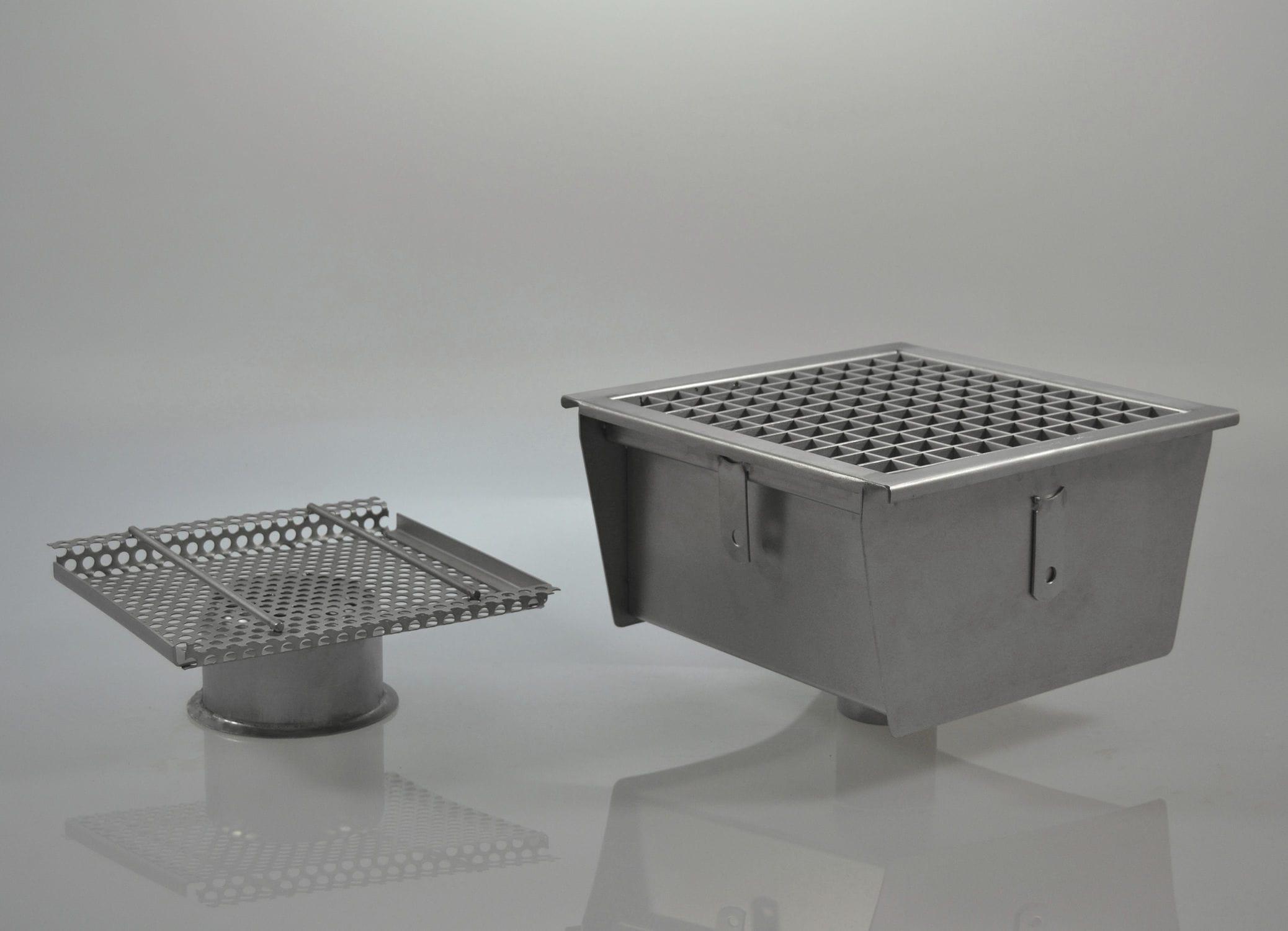 Piletta in acciaio inox / per cucina / su misura / anti-insetto ...
