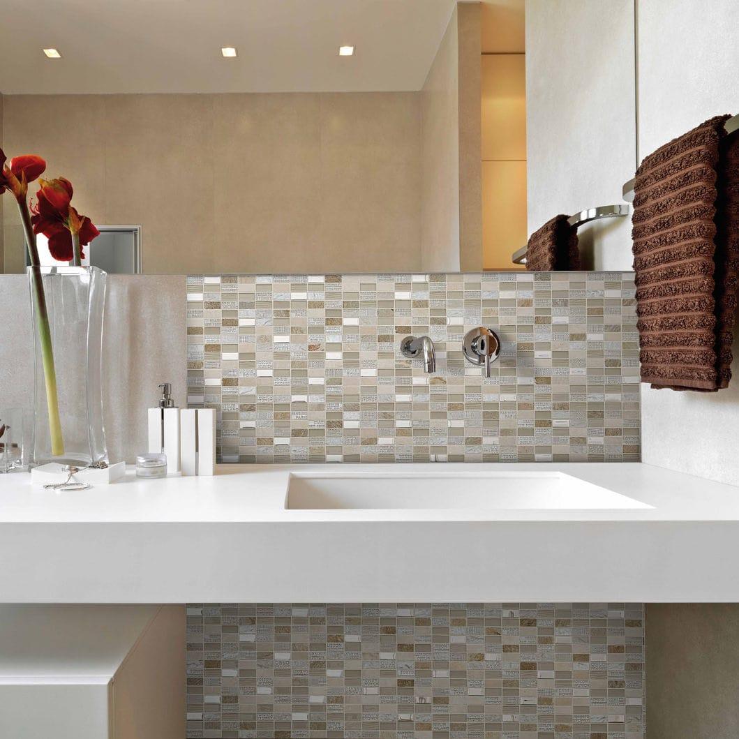 Mosaico da bagno / da cucina / da parete / in marmo - TRIP : CITY ...