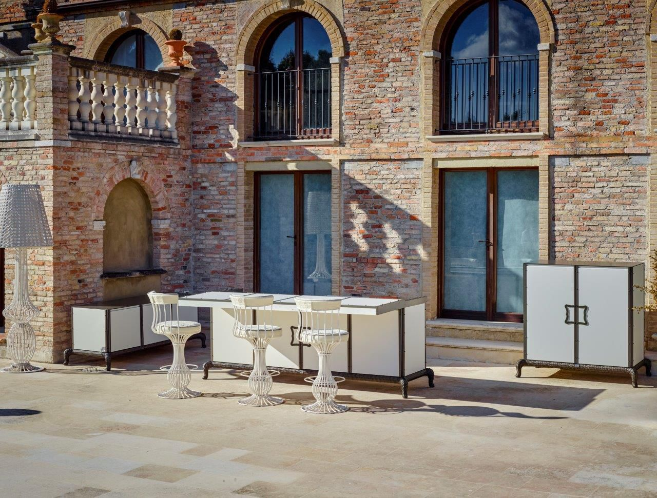 Cucina da esterno / moderna / in acciaio / in alluminio - LINEAR ...