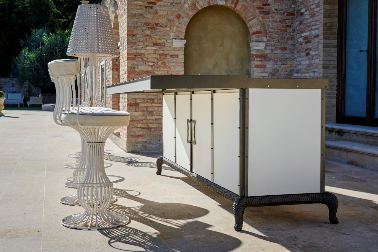 Cucina da esterno / moderna / in alluminio / in acciaio - LINEAR ...