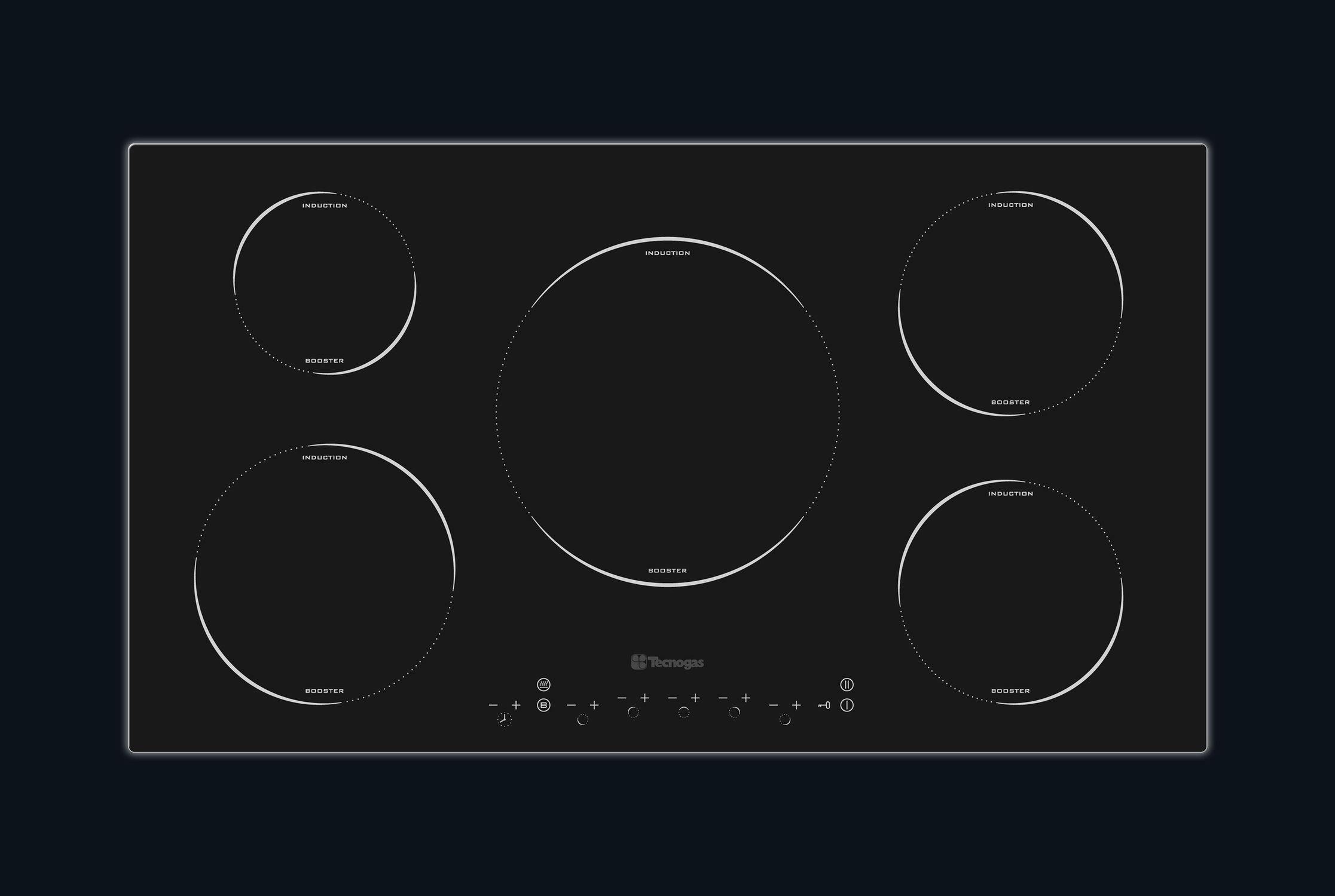 Piano cottura elettrico / a induzione - 90 NEXT - Tecno SpA