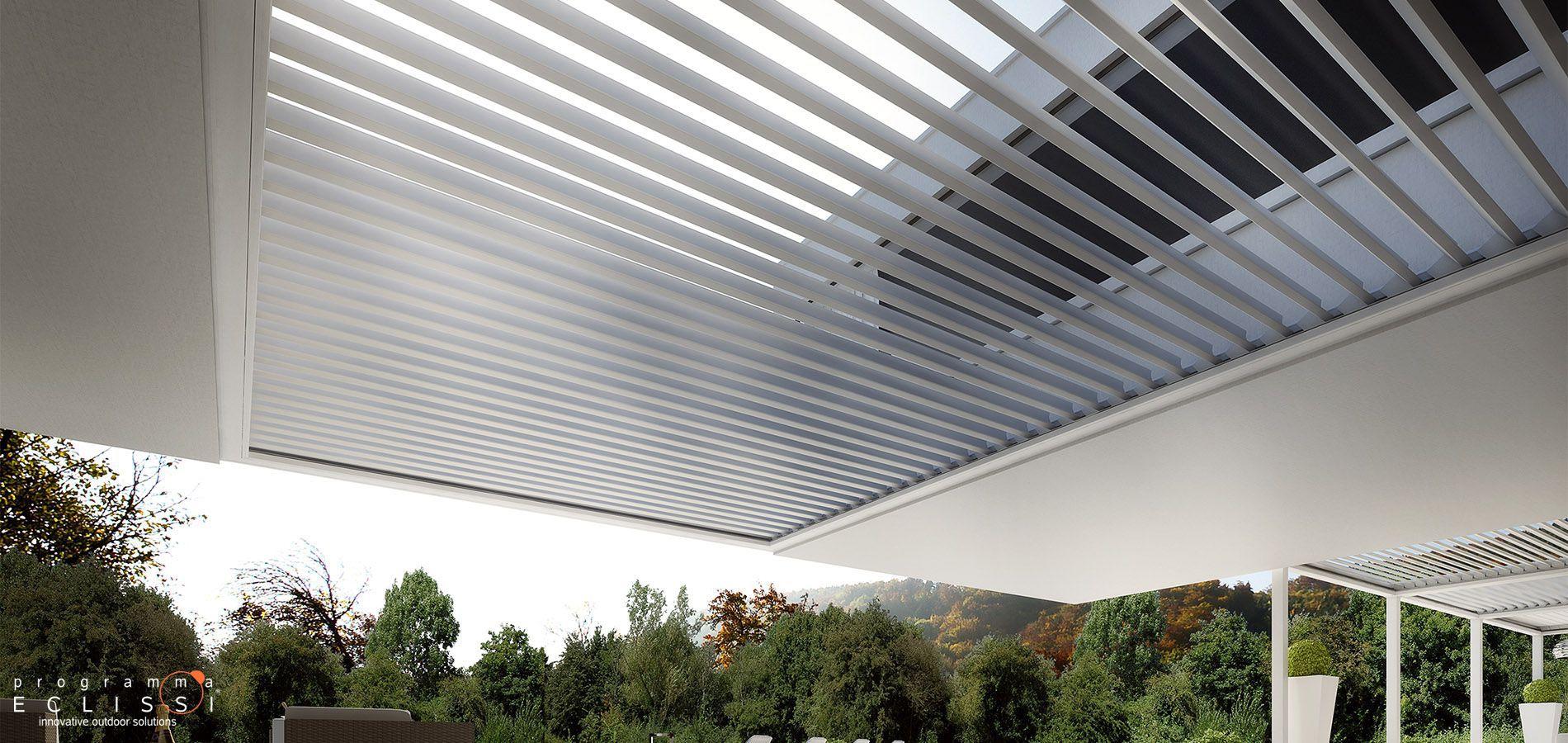 Frangisole in alluminio / per tetto / a motore / orientabile ...