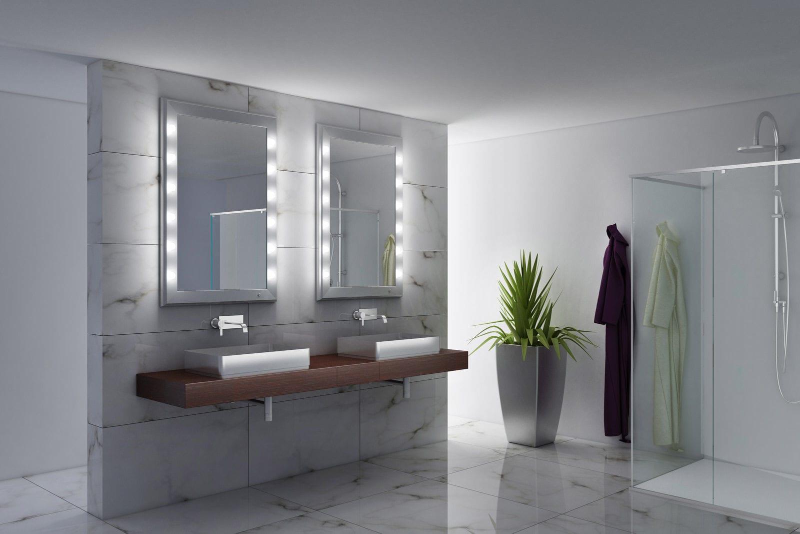 Letto Sospeso Muro : Specchio da bagno a muro luminoso per camera da letto sospeso