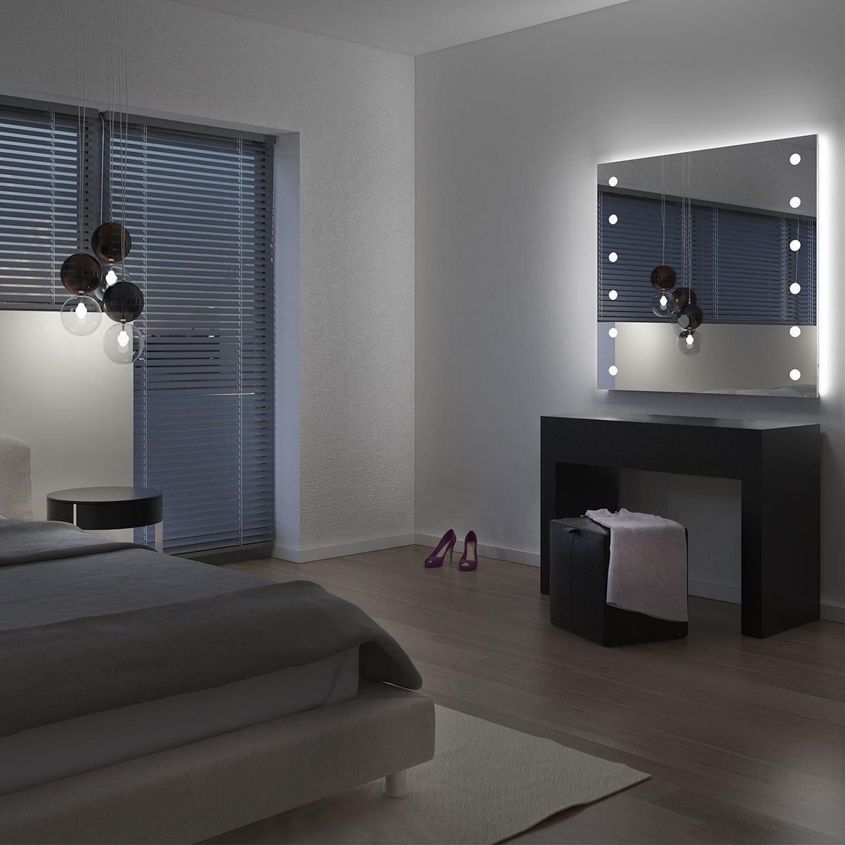 Specchio a muro / luminoso / da sala / per camera da letto - MH04 ...