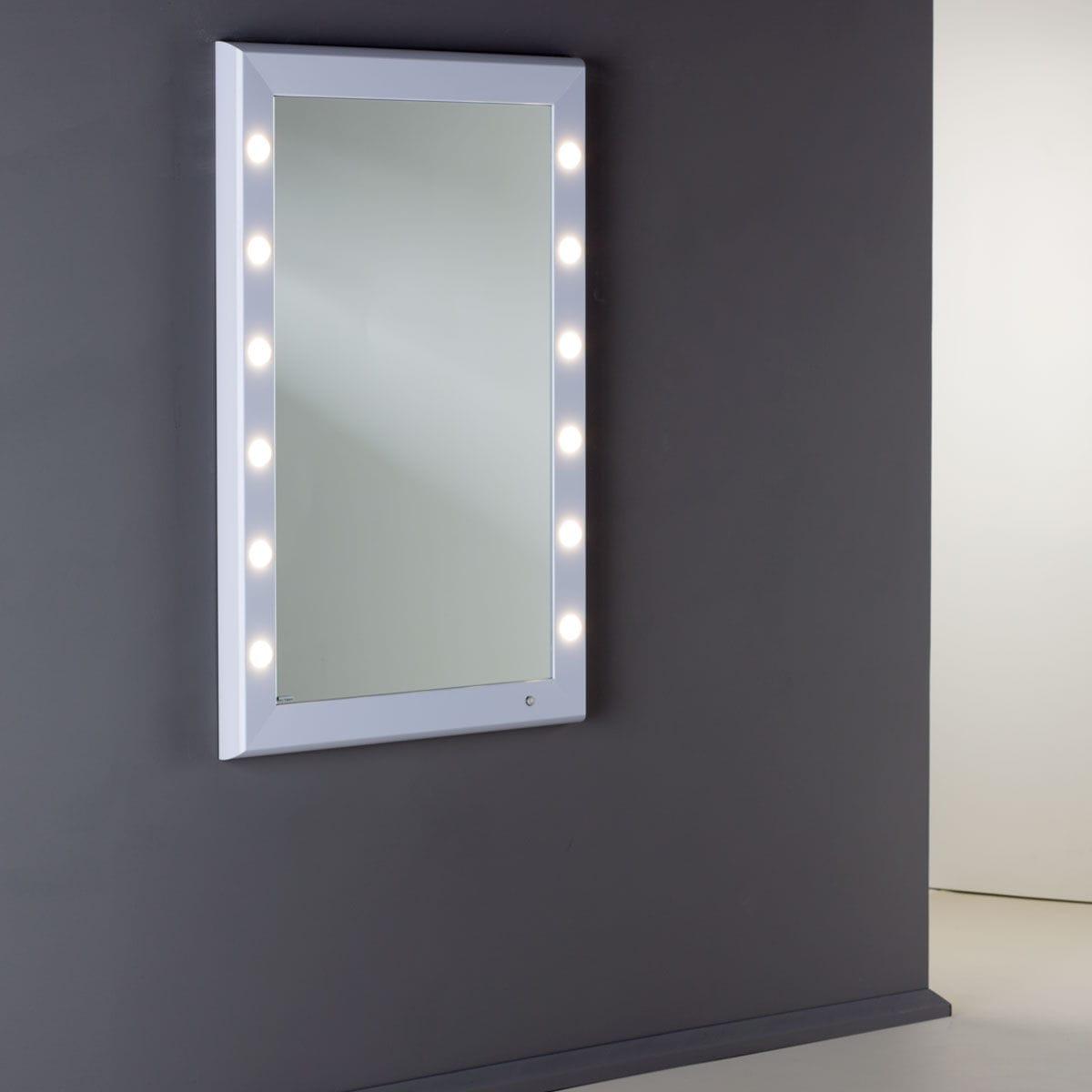 Specchio da bagno a muro / luminoso / per camera da letto / sospeso ...