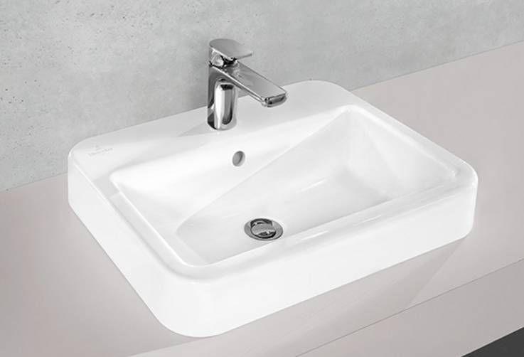 Vasche Da Bagno Villeroy E Boch Prezzi : Lavabo da semincasso rettangolare in ceramica moderno