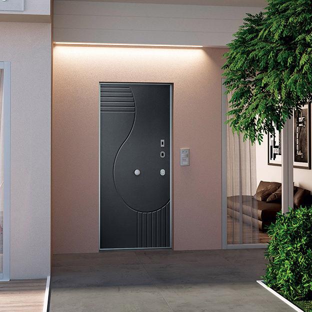 porta d'ingresso / battente / in acciaio / di sicurezza - opentech ... - Porta Di Sicurezza In Acciaio