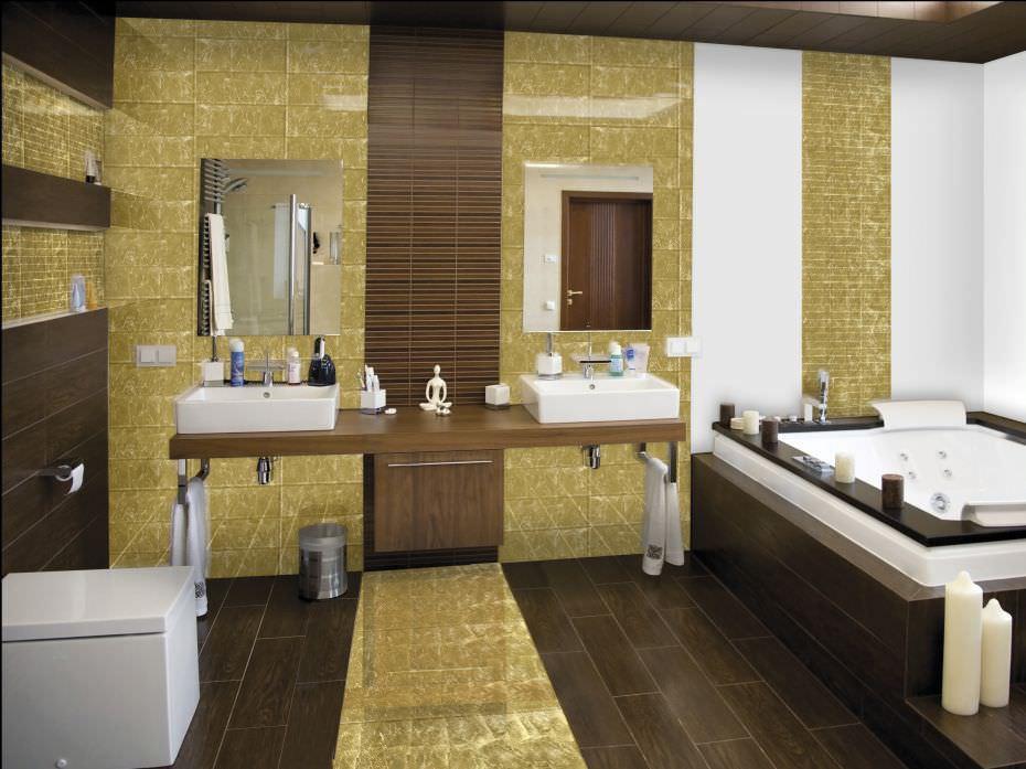 Luisadeglispecchi specchio trendy in mosaico e foglia oro