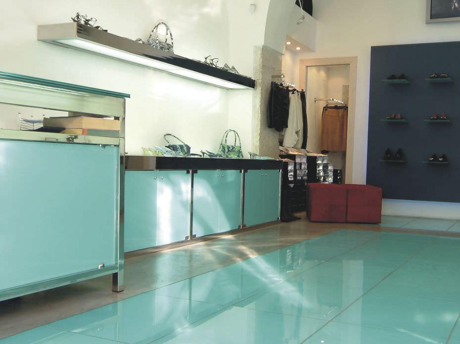 Piastrella da interno da cucina da pavimento in vetro