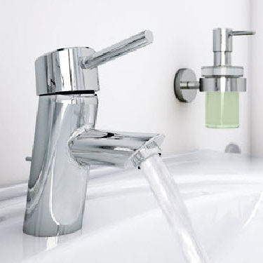 miscelatore per lavabo in metallo cromato da bagno 1 foro concetto 32204 001