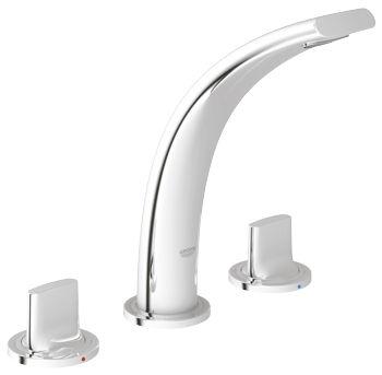 miscelatore doppio comando per lavabo da appoggio in metallo cromato da bagno ondus 20178 000