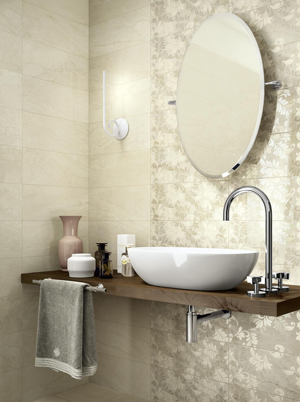 piastrella da bagno da parete in ceramica lucidata grace ragno