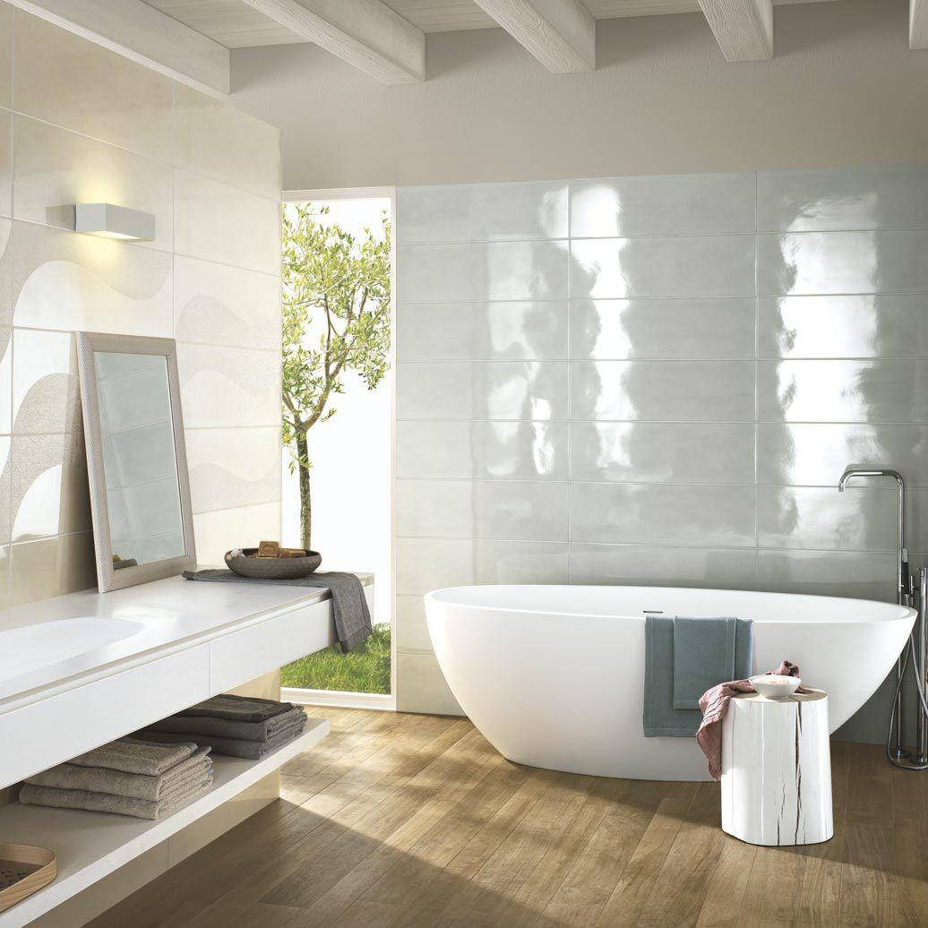 Piastrella da bagno / da parete / in ceramica / lucida - HANDMADE ...