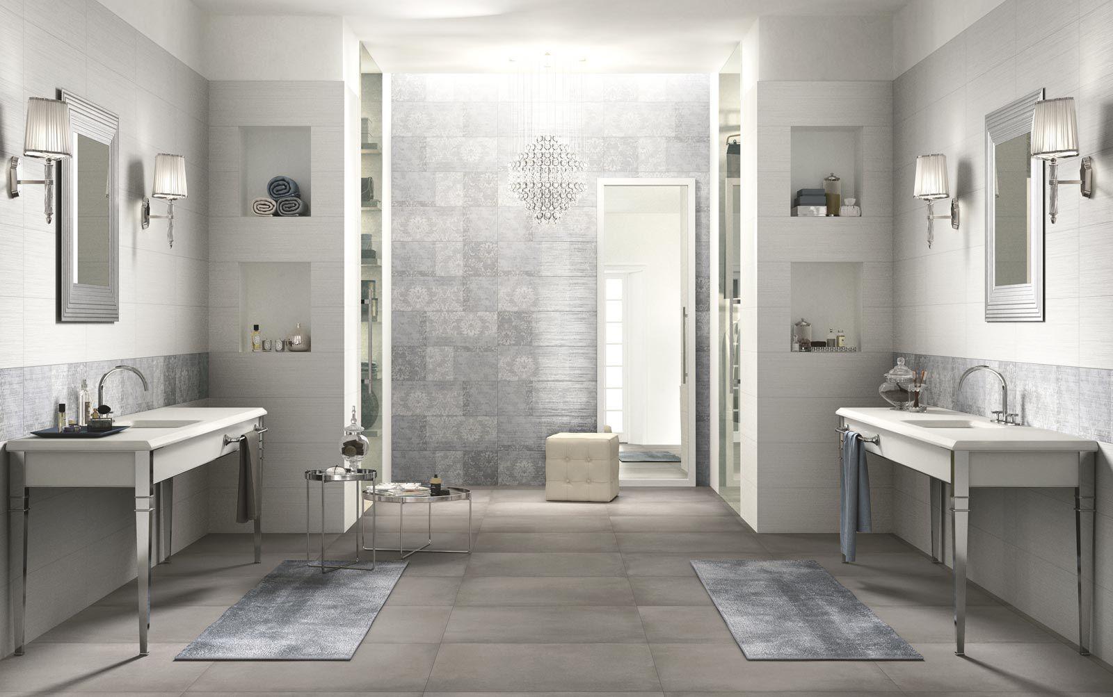 piastrella da bagno da parete in ceramica a righe wallpaper ragno