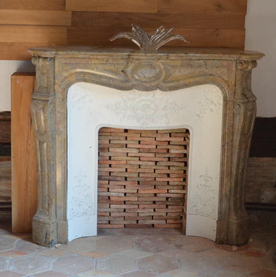 Rivestimento per camini in stile Luigi XV / in pietra / a 1 ...