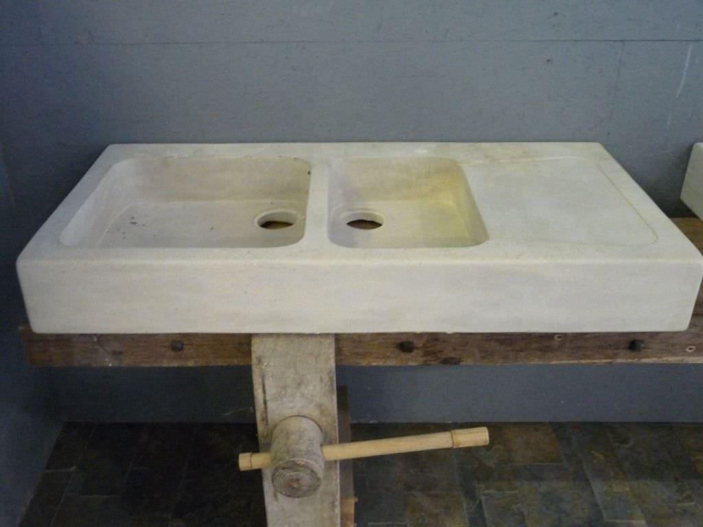 Lavello a 2 vasche / in pietra naturale   bca materiaux anciens