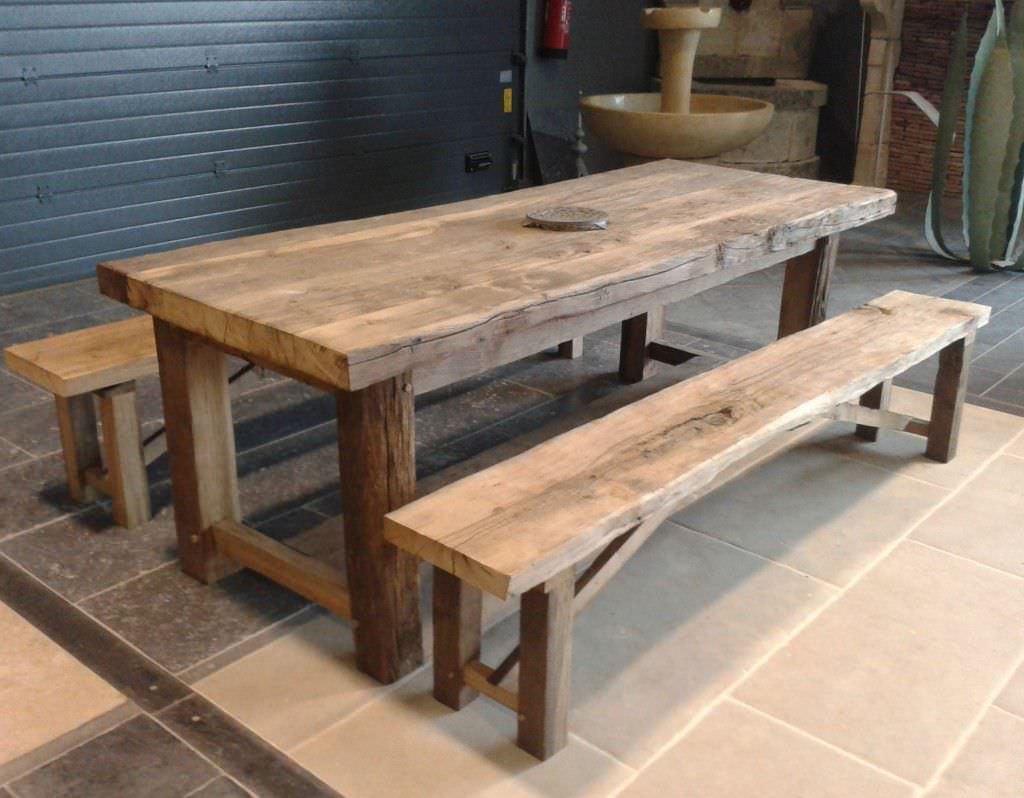 Set tavolo e panca moderno / in legno / per esterni / da giardino ...