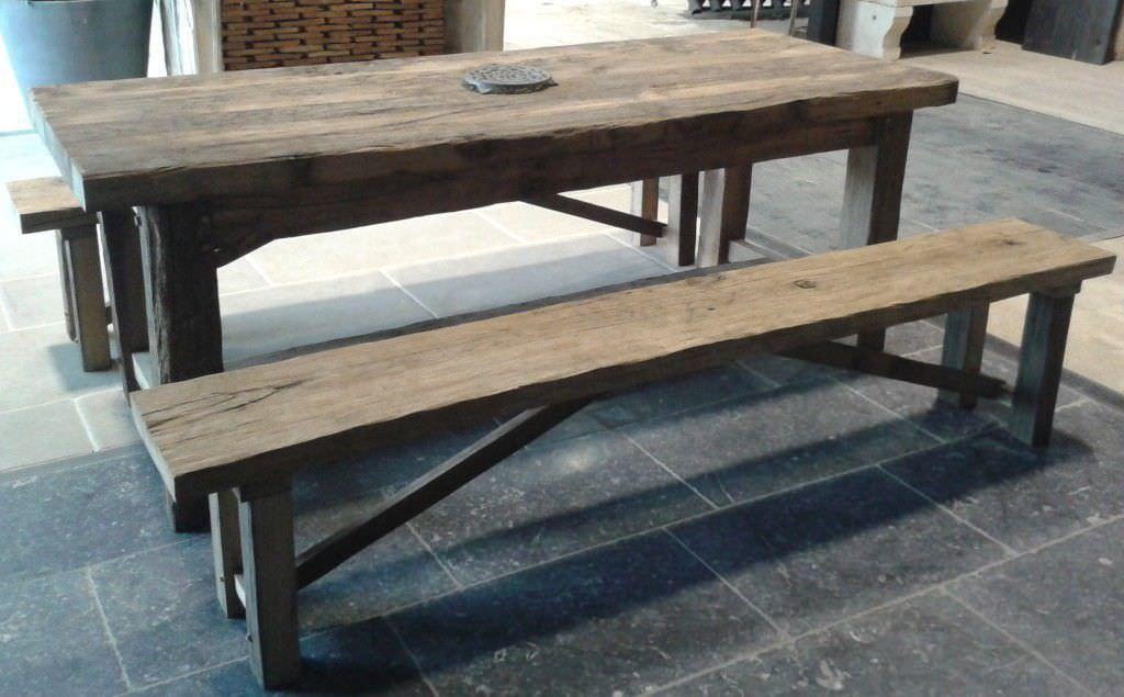 set tavolo e panca moderno / in legno / per esterni / da giardino ... - Tavolo Panca Da Giardino