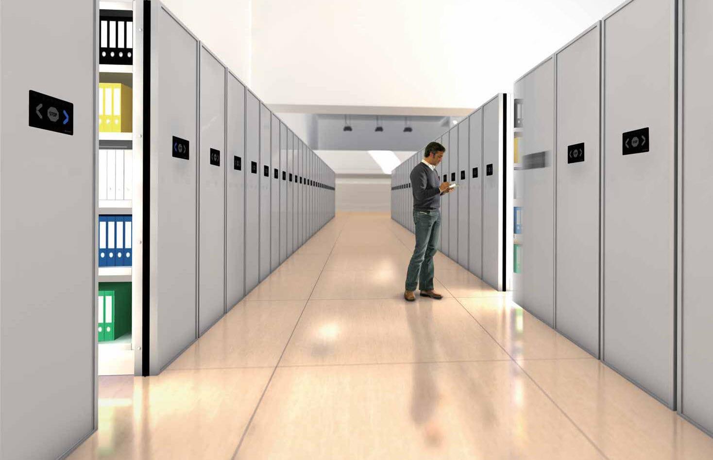 Mobili Archivio Ufficio : Scaffalatura mobile elettrica per archivio per stoccaggio