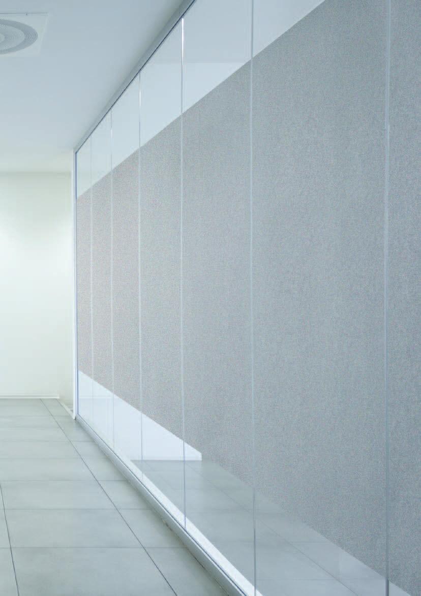 Pannello acustico a muro / in tessuto / a doppia faccia / per ...