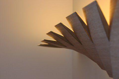 Applique design originale in metallo in legno led deccg
