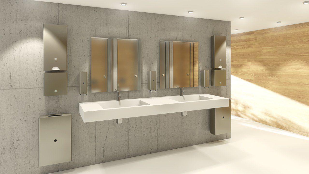Appendiabiti da parete moderno / in acciaio inox / da bagno ...