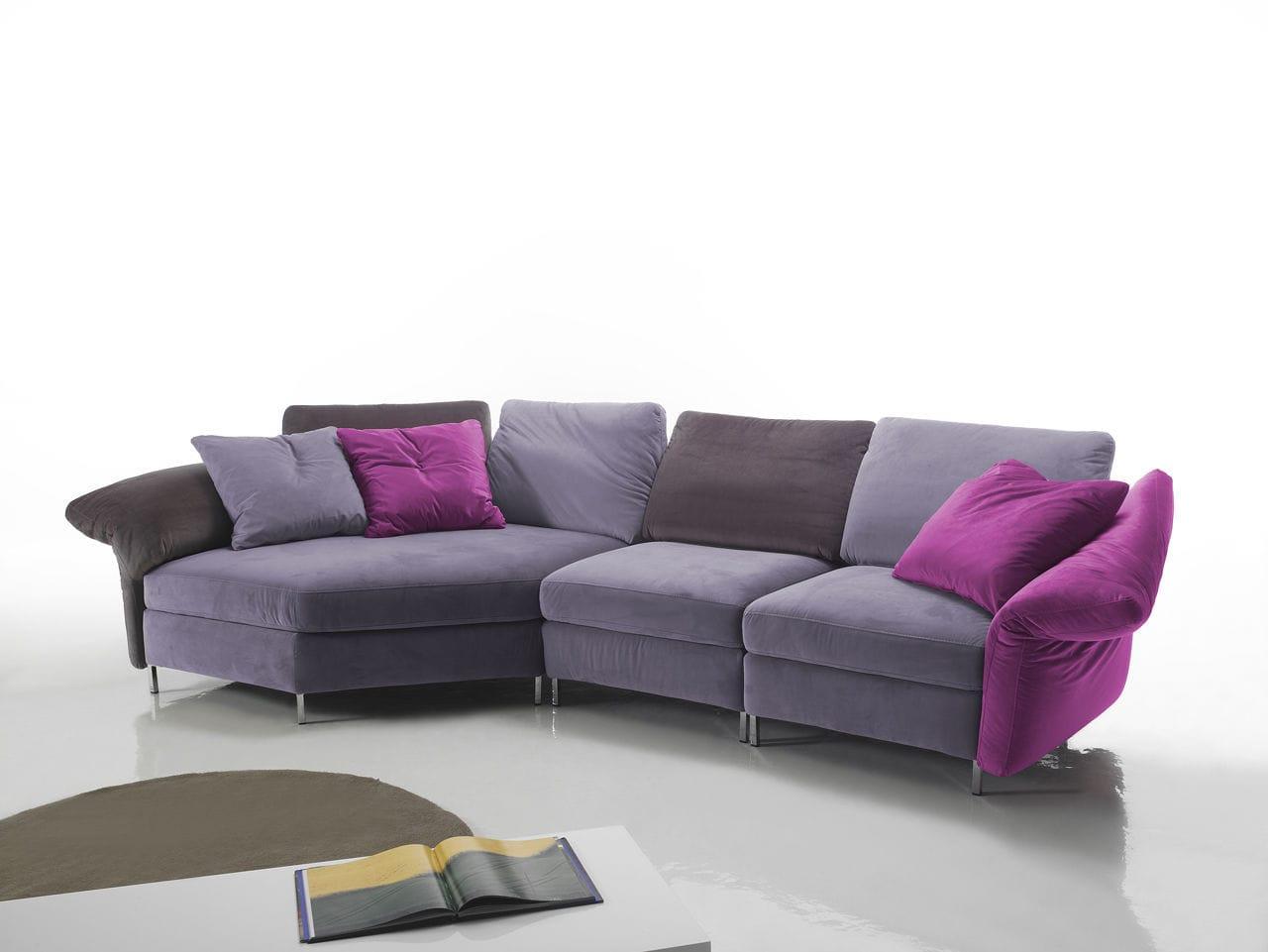 Divano 4 Posti.Divano Modulare Moderno In Tessuto 4 Posti Flower Very Sofa