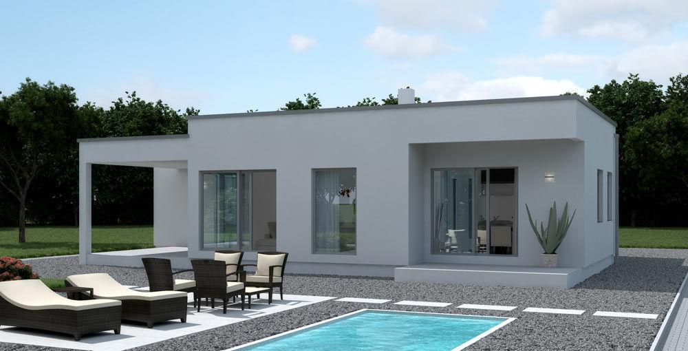 Case Moderne Ad Un Piano : Villetta ad un piano villa con piscina grande villa con piscina