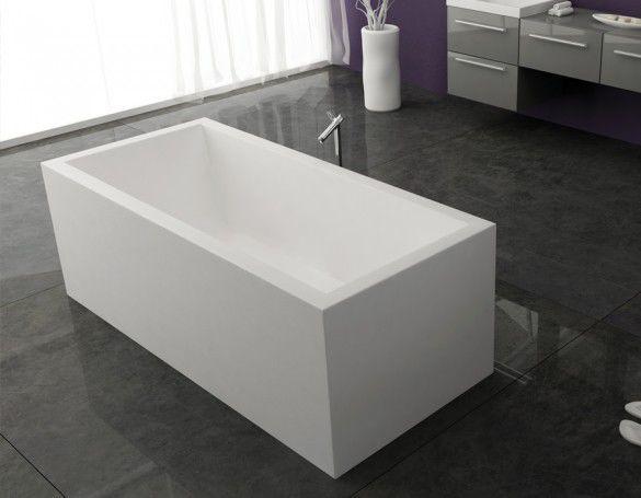 Vasche Da Bagno Misure : Vasca da bagno da appoggio in composito kerrock