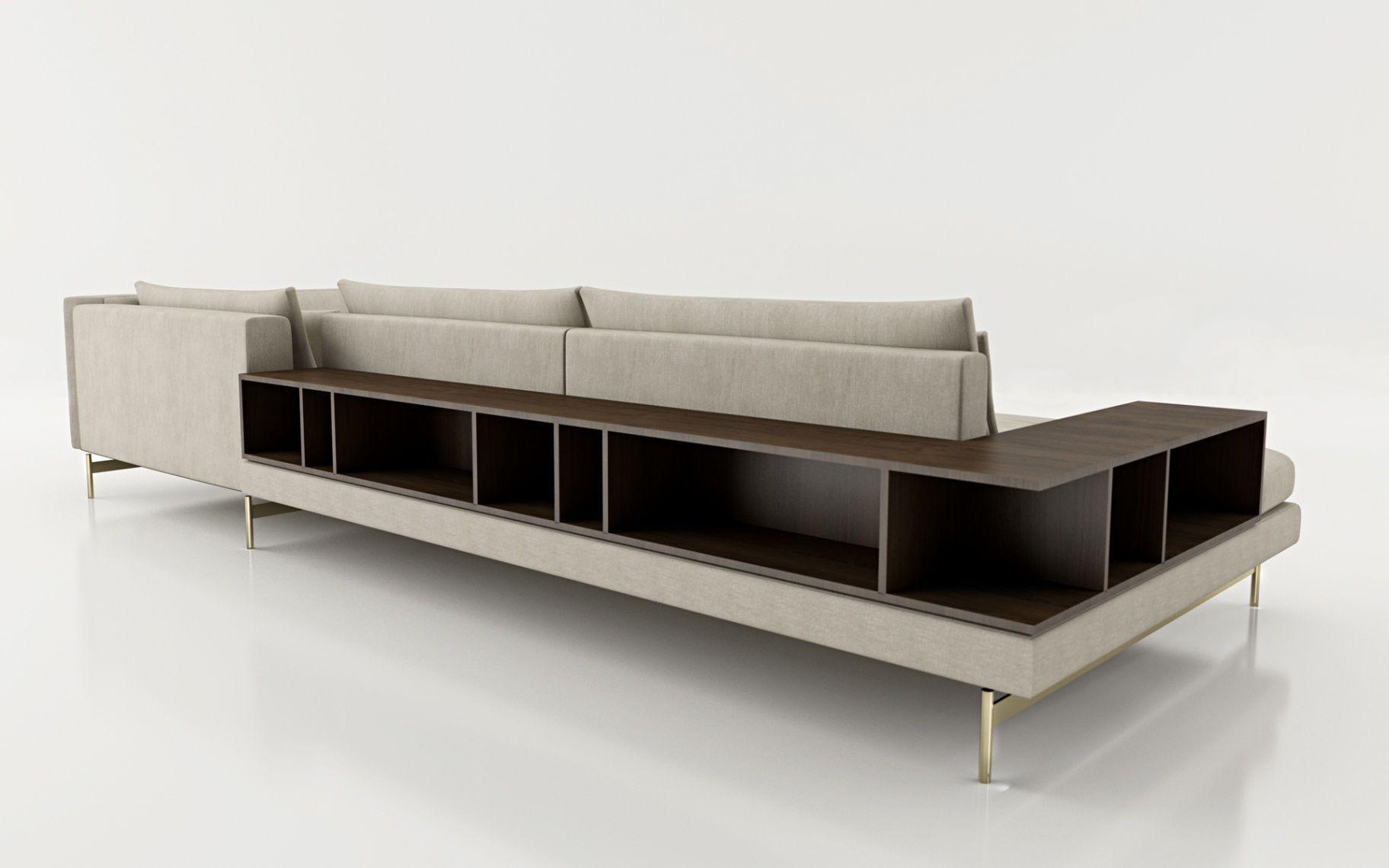 Divano d\'angolo / moderno / in tessuto / con contenitore - CASUAL by ...