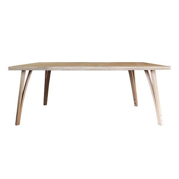 Tavolo design scandinavo / in quercia / in MDF / impiallacciato in ...