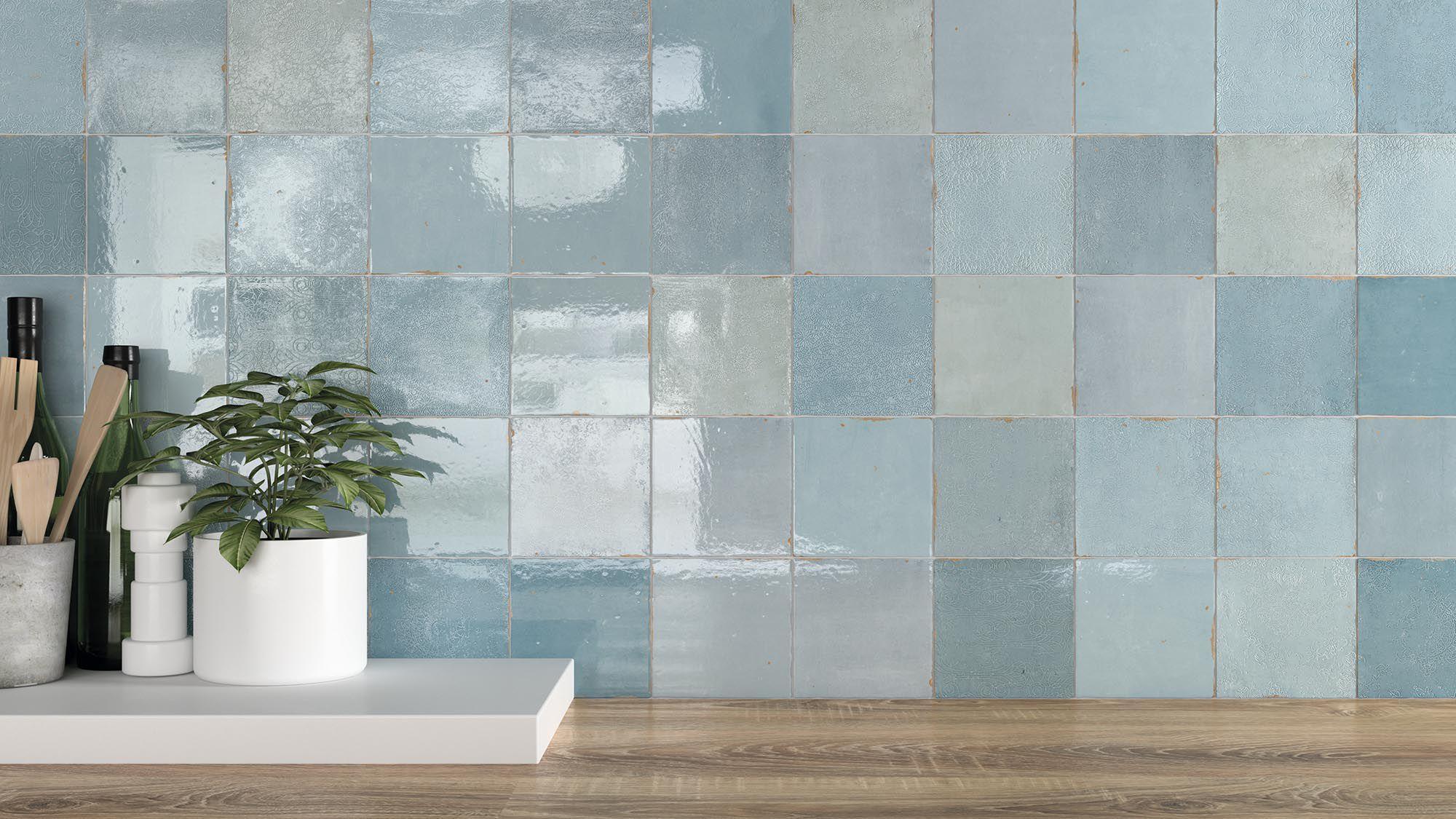 Piastrella da interno da parete in ceramica a motivi zellige