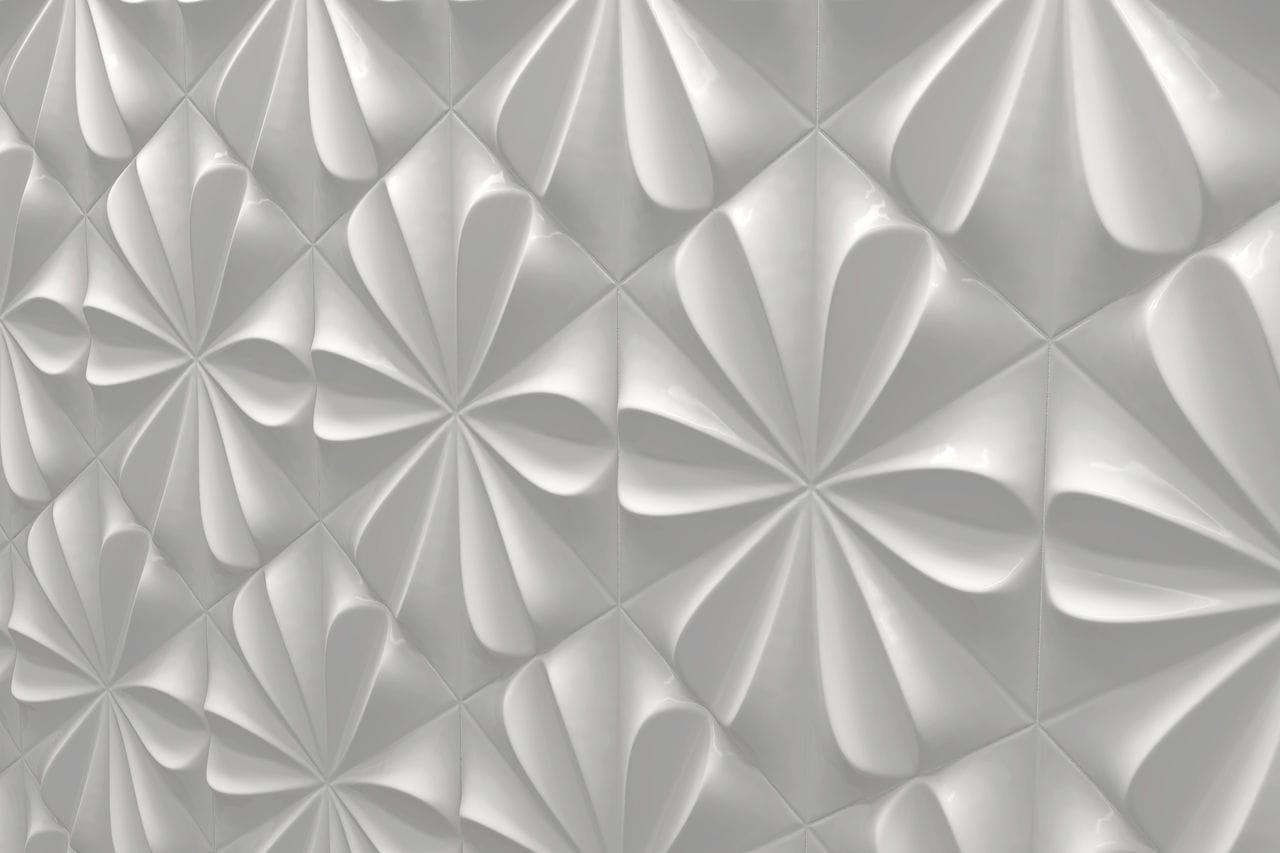 Piastrella da interno da parete in ceramica opaca fiore