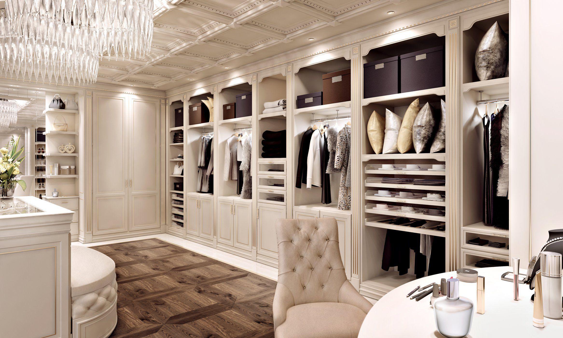 Cabine Armadio Stile Classico : Cabina armadio in legno laccato capriccio casta diva interiors