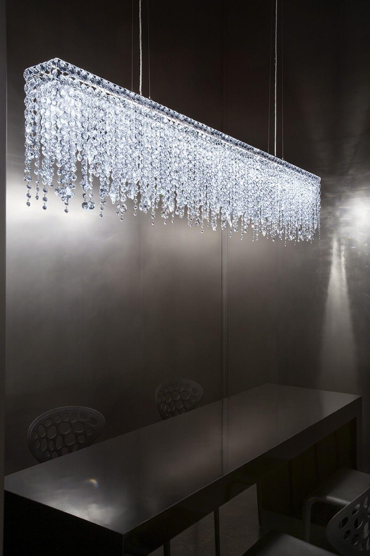 Lampadario moderno / in cristallo / alogeno / fatto a mano - ARIEL ...