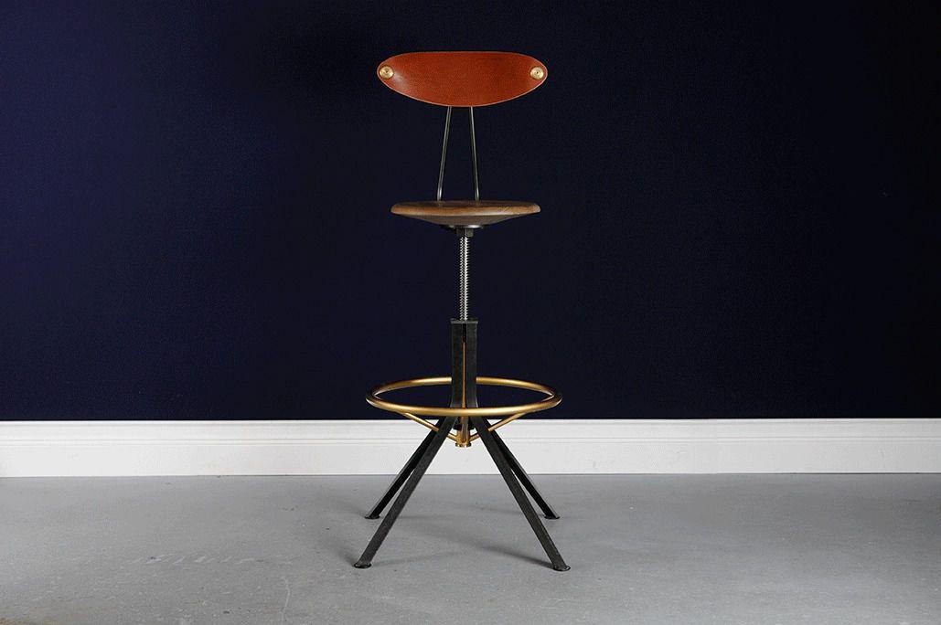 Sedia alta moderna ad altezza regolabile in legno di