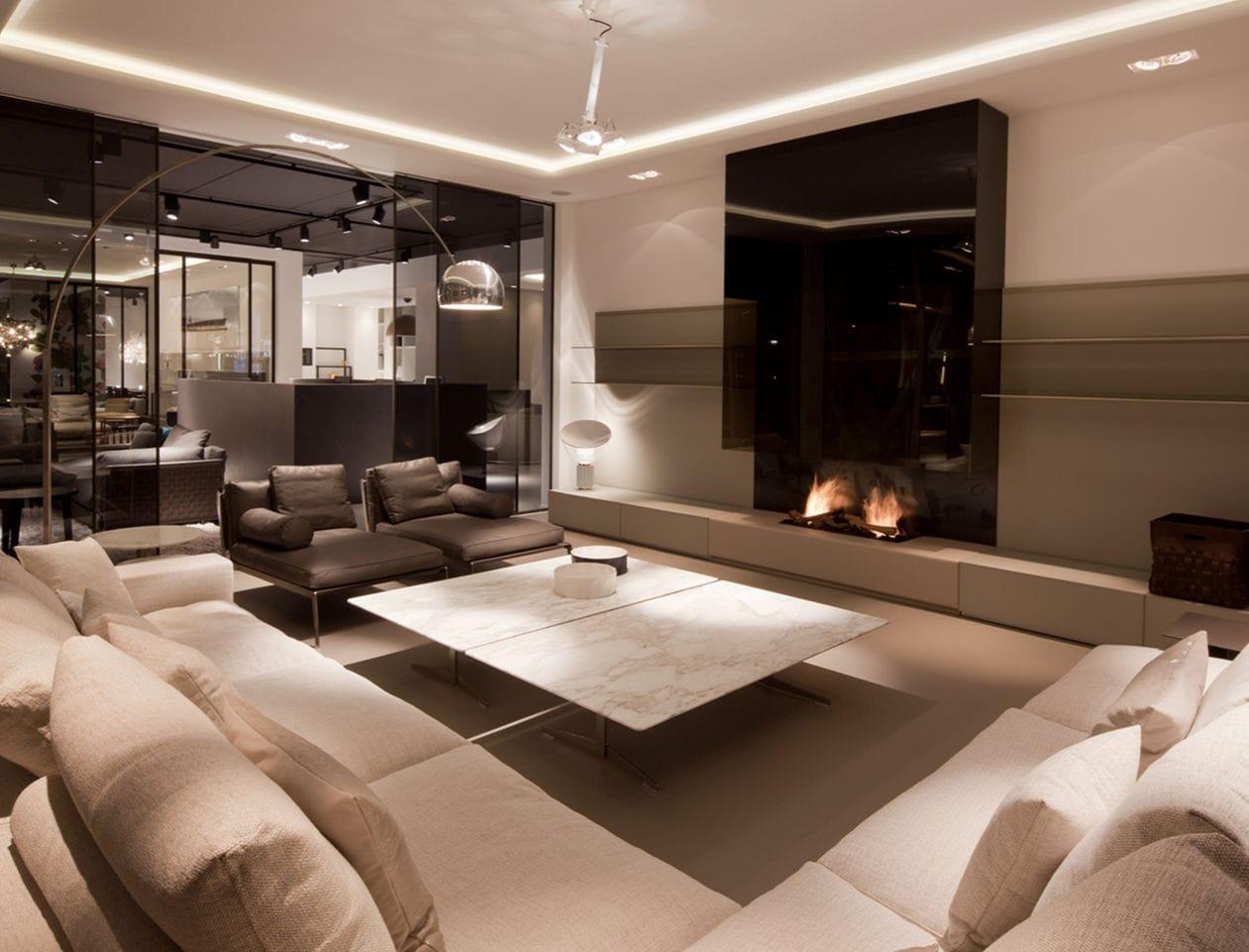 Beautiful Soggiorni Moderni Con Camino Images - House Design Ideas ...