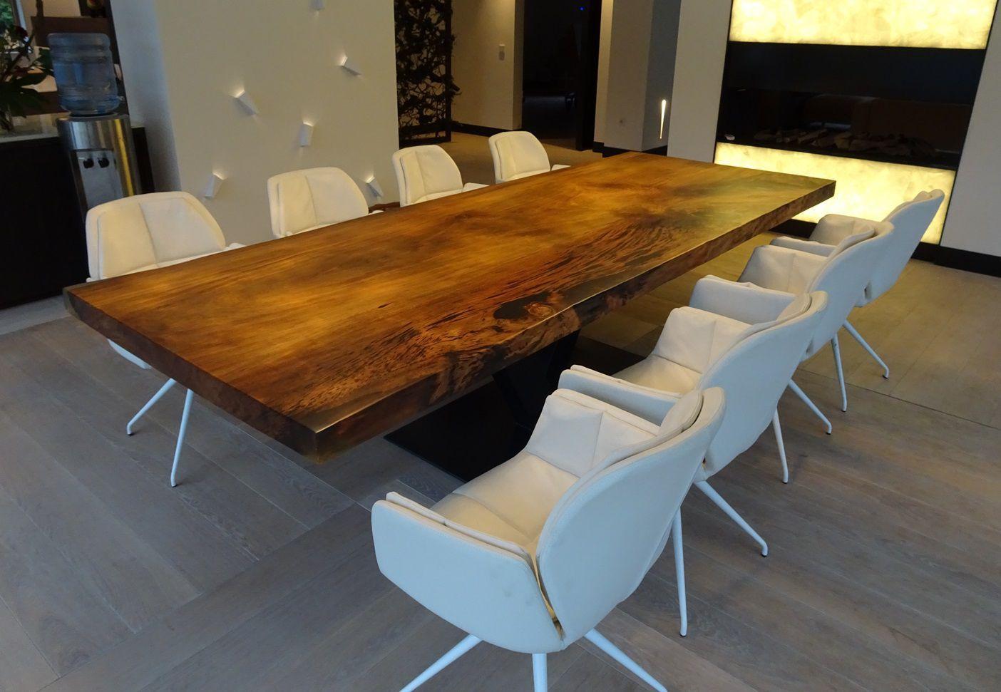 Tavoli Da Pranzo In Legno Massello : Tavolo da pranzo moderno in legno massiccio in acciaio in